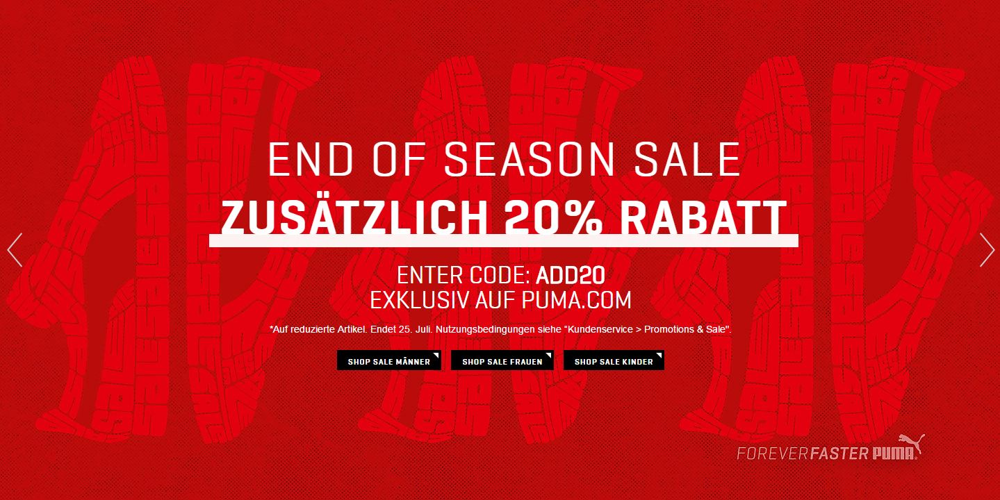 PUMA End of Season Sale