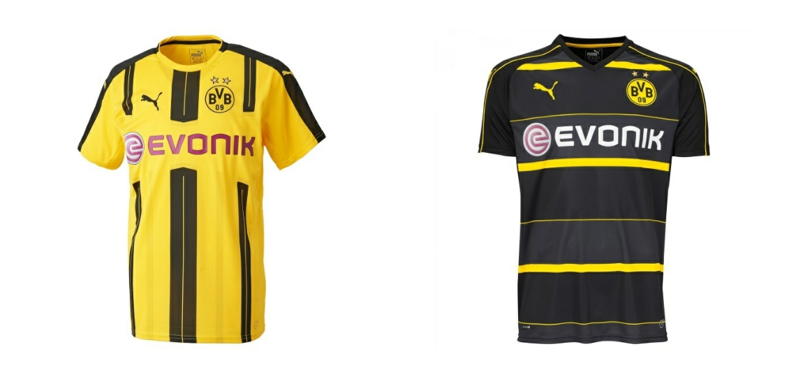 borussia dortmund trikot 2016 17 f r nur 35 16. Black Bedroom Furniture Sets. Home Design Ideas