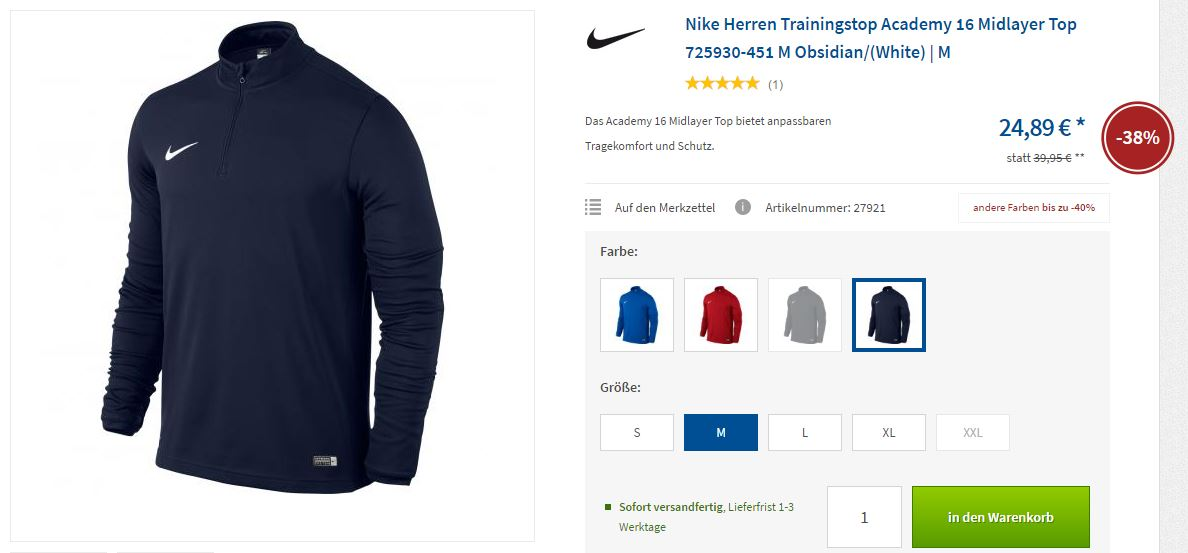 NIKE Fußballoutfit