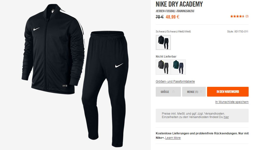NIKE Fußball Outfit