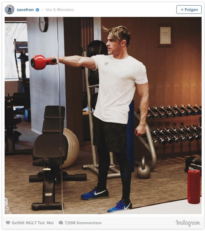 Zac Efron Training