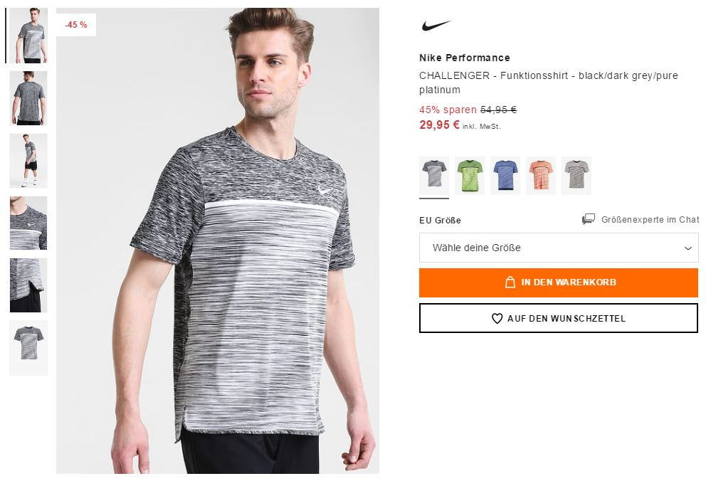 NIKE Performance Challenger Trainingsshirt