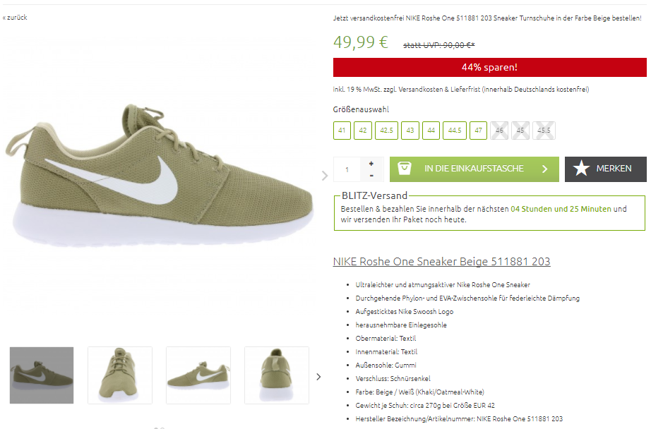 Outlet46.de NIKE Roshe One
