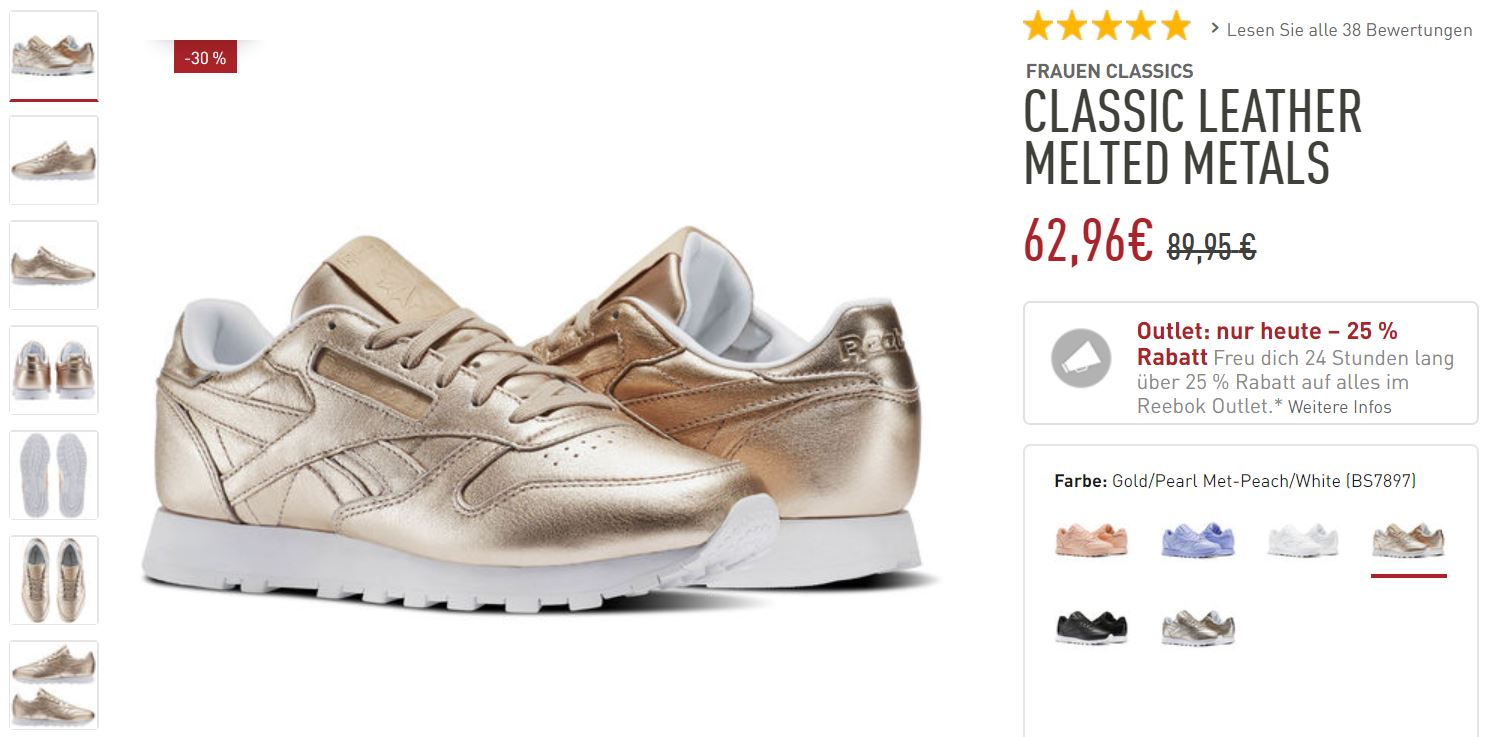 Reebok Classic Melted Metal