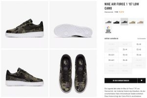 NIKE Air Force 1 Low 07 Reflective Camo