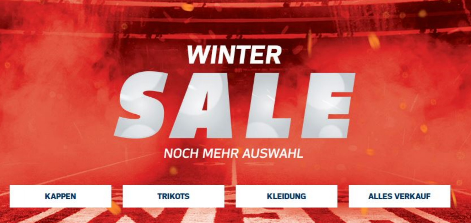 NFL Sale: Fan Stuff ALLER Teams mit bis zu 50% Rabatt
