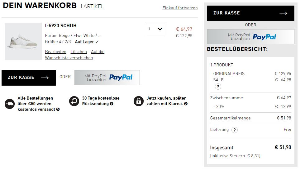 Boost Outlet bei adidas mit bis zu 50% Rabatt + 20% On Top